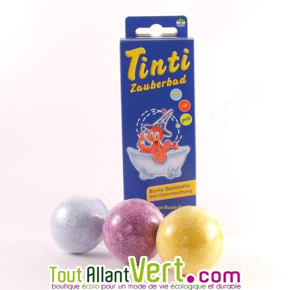 tinti colorant magique pour bain pour enfant lot de 3 boules - Colorant Bain