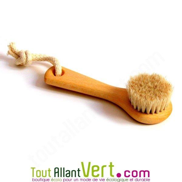 brosse visage en bois et poils naturel pour masser nettoyer tonifier. Black Bedroom Furniture Sets. Home Design Ideas