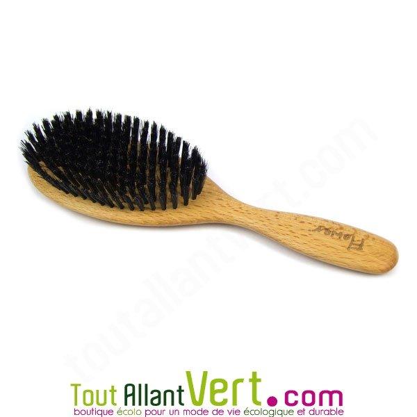 brosse cheveux en bois poils naturel de sanglier achat. Black Bedroom Furniture Sets. Home Design Ideas