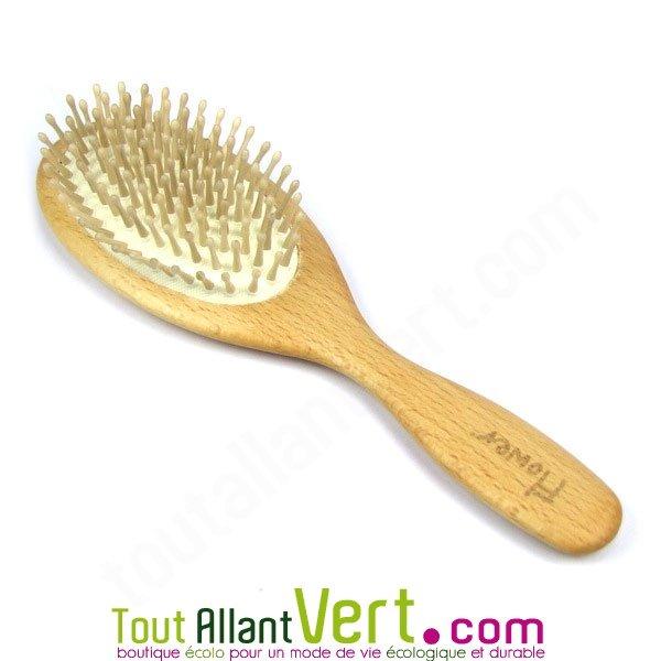 brosse cheveux bois