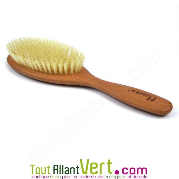 brosse pour cheveux fins et souples poils naturels soies manche en bois. Black Bedroom Furniture Sets. Home Design Ideas