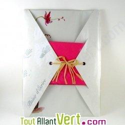 Papier � lettre et enveloppes Orchid�e 100% recycl�