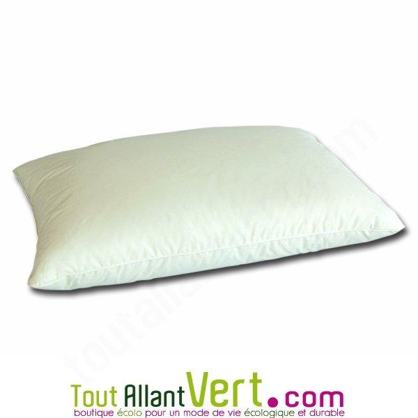 mille oreillers oreillers en duvet d oie et coton biologique 40x60cm. Black Bedroom Furniture Sets. Home Design Ideas