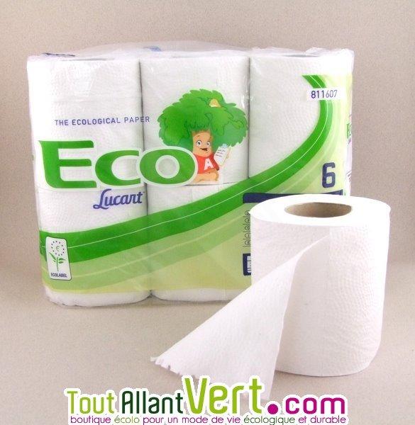 Papier toilette 100 recycl lot 6 rouleaux achat vente - Acheter papier toilette en gros ...