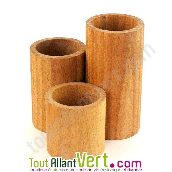 Pot A Crayon En Bois - Potà crayons x3 en bois de h u00eatre achat venteécologique Acheter sur ToutAllantVert com
