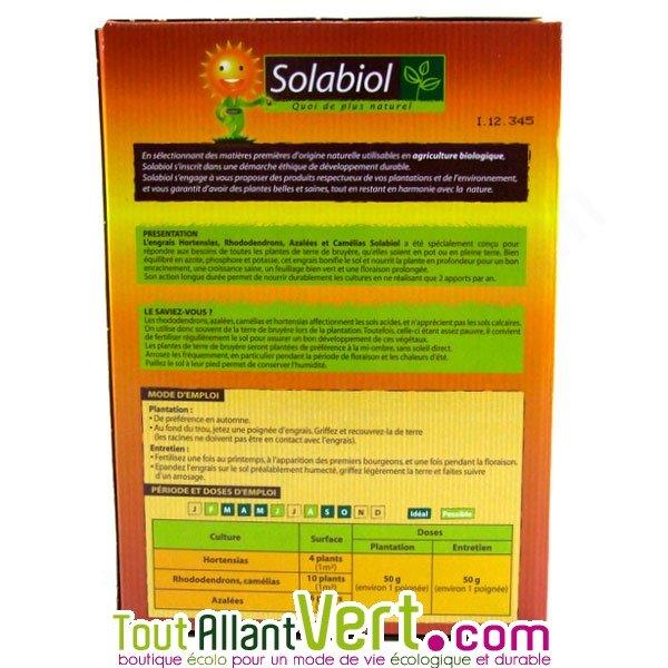 Solabiol engrais hortensias et rhododendrons 1 5 kg for Engrais 10 10 10
