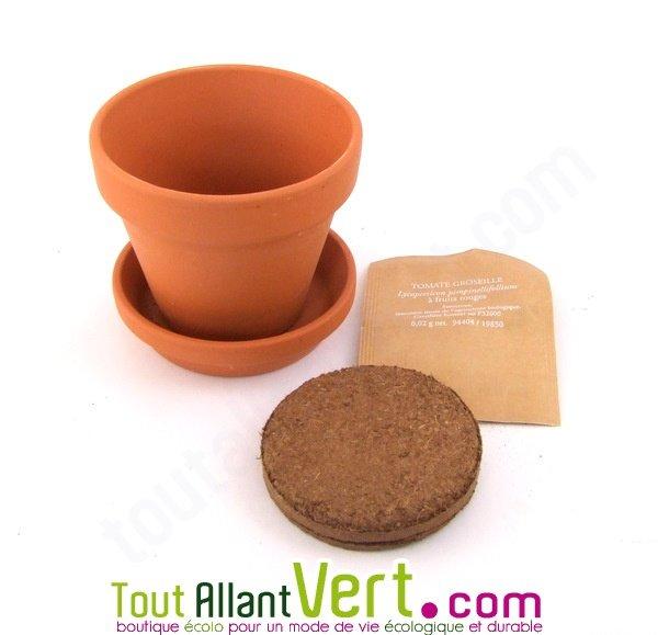 Pot terre cuite enfant tournesol nain terreau et graines 12 cm achat vente cologique - Nain de jardin en terre cuite ...