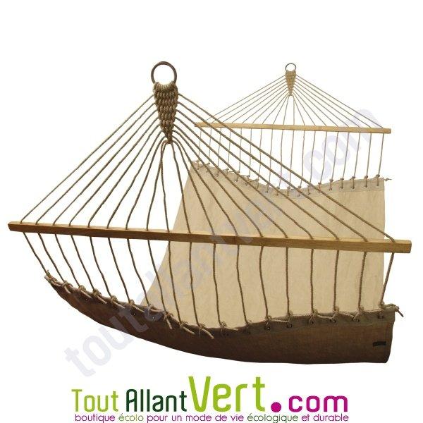 hamac 2 personnes bois et chanvre naturel achat vente. Black Bedroom Furniture Sets. Home Design Ideas