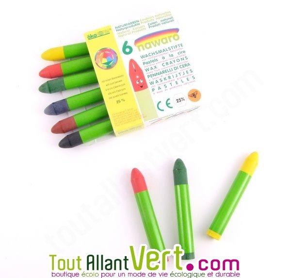 pastels la cire lot de 6 crayons achat vente cologique acheter sur. Black Bedroom Furniture Sets. Home Design Ideas