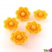 Bougie flottante fleur jaune 100% cire d'abeille
