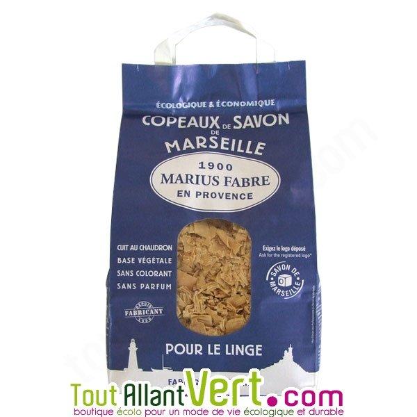 Copeaux de savon de marseille lessive marius fabre 72 huile d olive - Savon de marseille copeaux ...