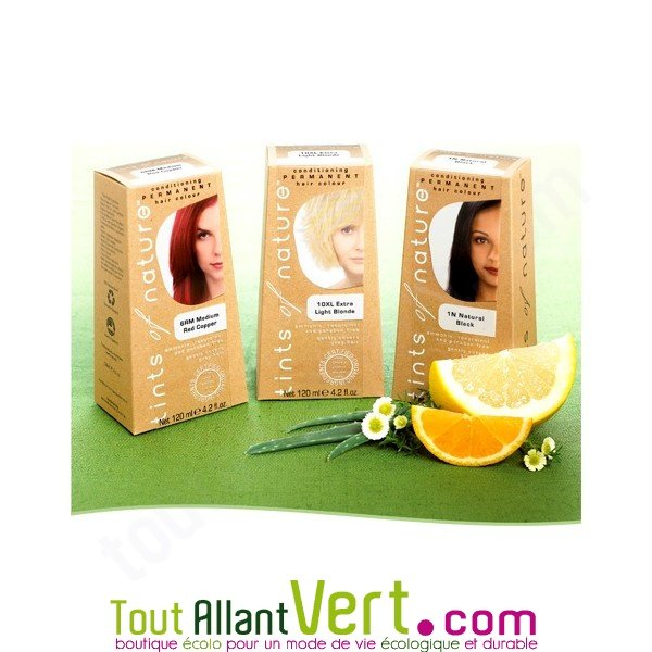 Teinture permanente coloration bio pour cheveux sans ammoniaque tints of natu - Teinture textile bio ...