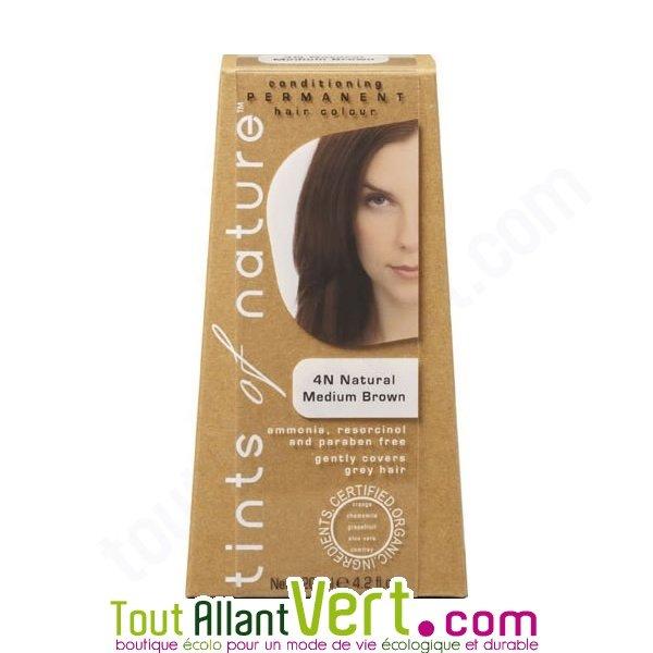 Teinture permanente coloration bio pour cheveux 4n ch tain naturel achat vent - Teinture textile bio ...