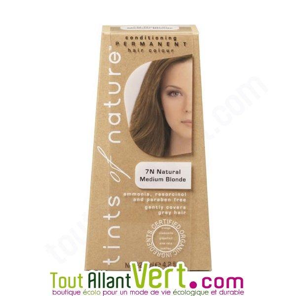 Teinture permanente coloration bio pour cheveux 7n blond naturel achat vente - Teinture textile bio ...
