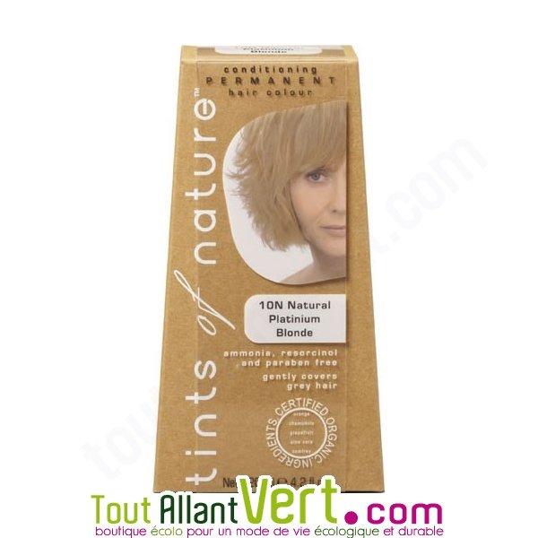 Teinture permanente coloration bio pour cheveux 10n blond platine naturel ach - Teinture textile bio ...