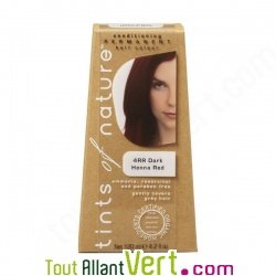 Teinture permanente coloration bio pour cheveux 4rr ch tain henn auburn acha - Teinture textile bio ...