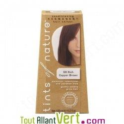 Teinture permanente coloration bio pour cheveux 5r ch tain cuivr achat vente - Teinture textile bio ...