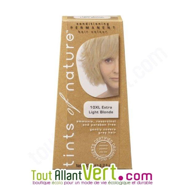 teinture permanente coloration bio pour cheveux 10xl blond ultra clair - Shampoing Colorant Blond