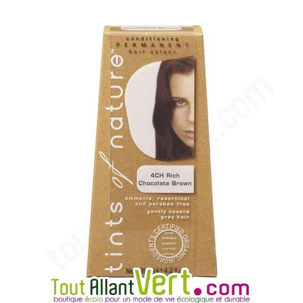 teinture permanente coloration bio pour cheveux 4ch chocolat achat vente cologique acheter. Black Bedroom Furniture Sets. Home Design Ideas
