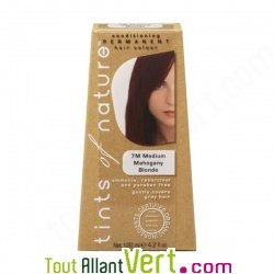 teinture permanente coloration bio pour cheveux 7m blond acajou - Coloration Cheveux Bio