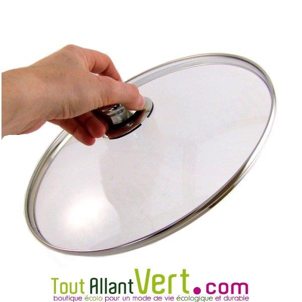 couvercle en verre 28 cm pour p ele 28cm inox 18 10 abe. Black Bedroom Furniture Sets. Home Design Ideas