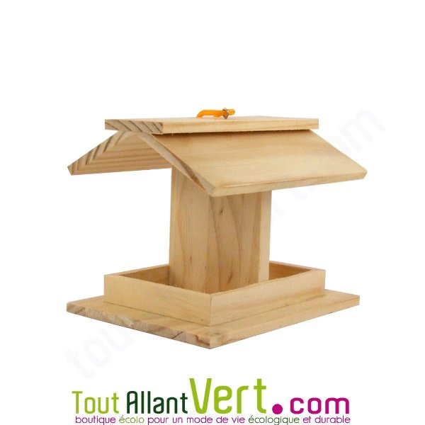 mangeoire pour oiseaux en bois pin fsc d corer achat vente cologique acheter sur. Black Bedroom Furniture Sets. Home Design Ideas