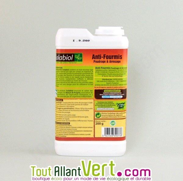 Poudre anti fourmis 200g solabiol achat vente cologique for Anti fourmi jardin