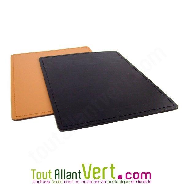 Tapis de souris en cuir recycl 24x19 5 cm achat vente - Tapis de souris personnalise belgique ...
