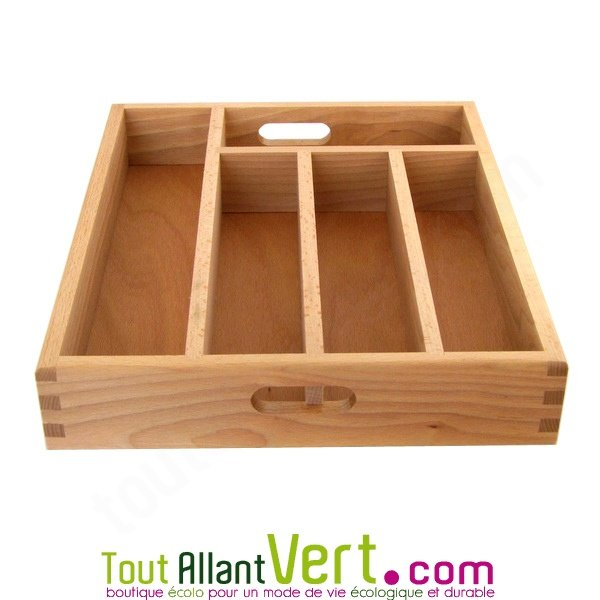 Range couverts tiroir en bois fsc achat vente cologique acheter sur - Range couverts pour tiroir ...