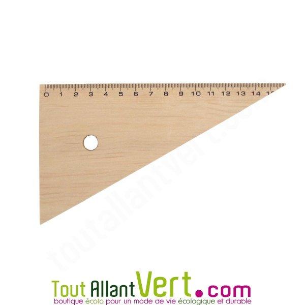 Equerre en bois naturel pefc 15 cm 60 achat vente cologique acheter sur - Fabriquer equerre bois ...
