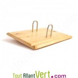Socle en bois pour bloc �ph�m�ride