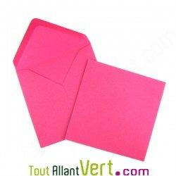 Enveloppes recycl�es 12.5x12.5 cm Couleur de Provence, 100g, lot de 50