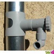 Collecteur d'eau de pluie sans coupe de goutti�re ronde