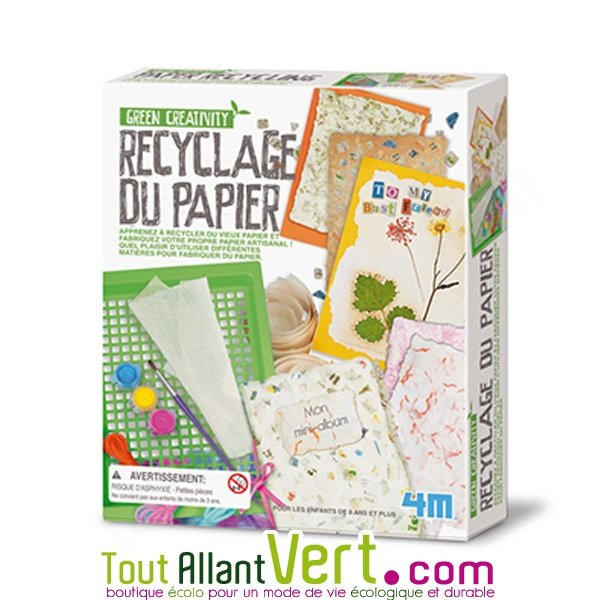 fabriquer son papier recycl soi m me jeu pour enfant green science 4m. Black Bedroom Furniture Sets. Home Design Ideas