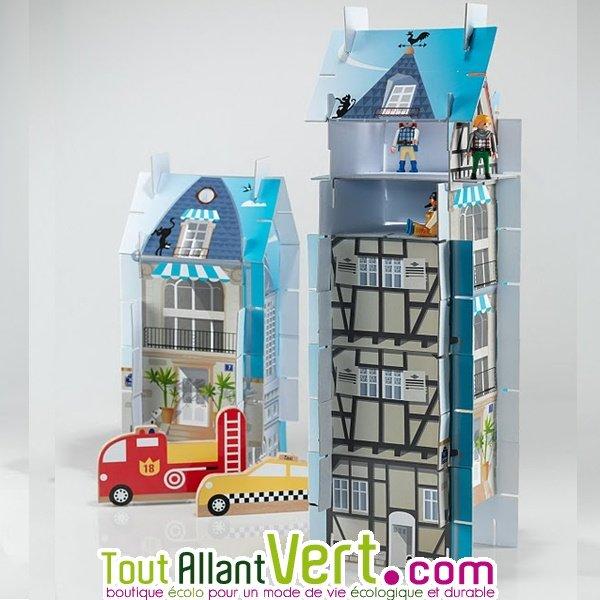 Jeu Construction 3 En 1 Plateform Maisons 3d En Carton