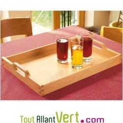 Plateau de cuisine en bois fsc grand format avec poign es for Plateau pour table de cuisine