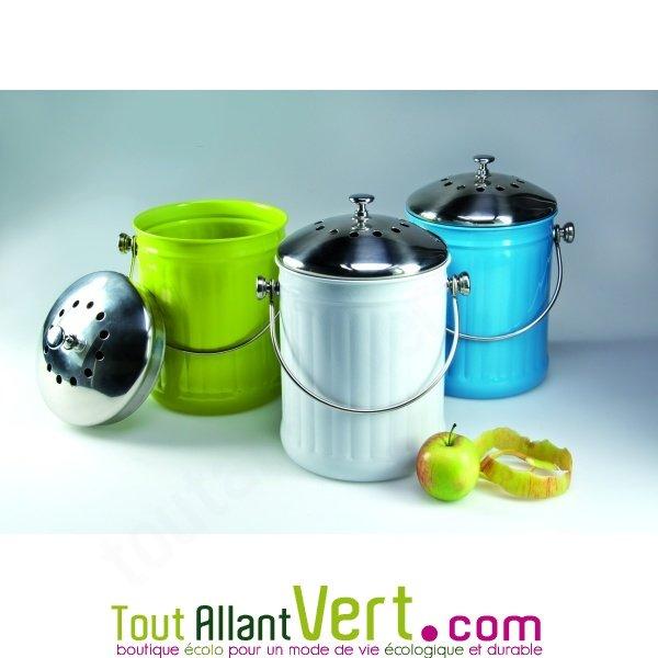 poubelle compost anti odeur pour cuisine 4 litres achat vente cologique acheter sur. Black Bedroom Furniture Sets. Home Design Ideas