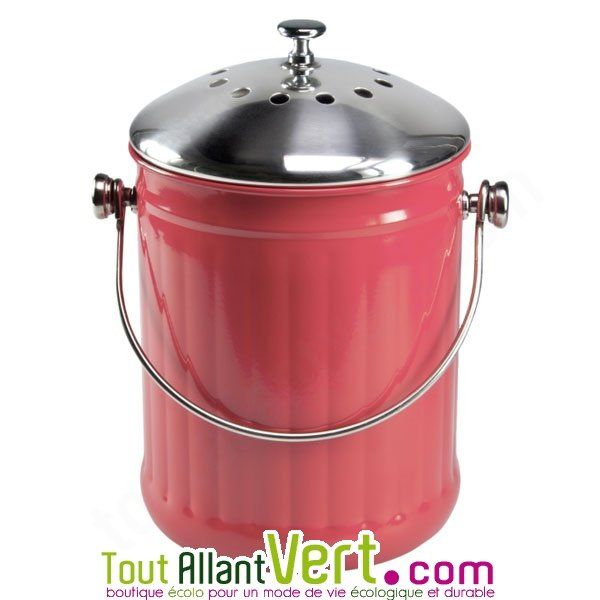 poubelle compost rouge anti odeur pour cuisine 4 litres. Black Bedroom Furniture Sets. Home Design Ideas