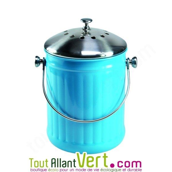 poubelle compost bleu anti odeur pour cuisine 4 litres achat vente cologique acheter sur. Black Bedroom Furniture Sets. Home Design Ideas