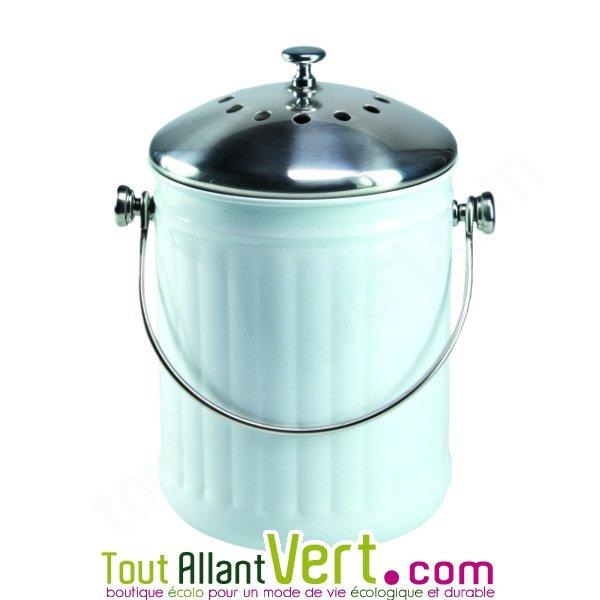 poubelle compost blanc anti odeur pour cuisine 4 litres achat vente cologique acheter sur