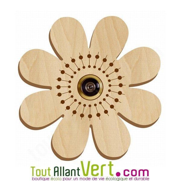 d cor fleur en bois pour oeilleton de porte achat vente cologique acheter sur. Black Bedroom Furniture Sets. Home Design Ideas