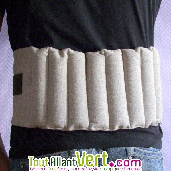 ceinture chauffante pour dos aux graines de lin des. Black Bedroom Furniture Sets. Home Design Ideas