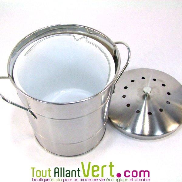 Poubelle de table compost anti odeurs pour cuisine 5 for Seau compost cuisine