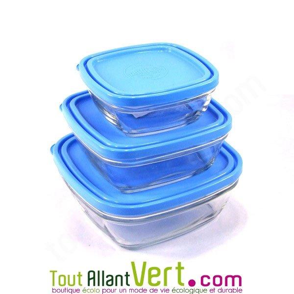 Boite En Verre Avec Couvercle : 3 boites de conservation en verre avec couvercle achat ~ Teatrodelosmanantiales.com Idées de Décoration