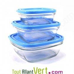 3 boites de conservation en verre avec couvercle achat