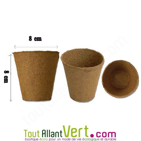 pots biod gradables x30 semis et boutures pour planter sans d poter 8cm ronds achat vente. Black Bedroom Furniture Sets. Home Design Ideas