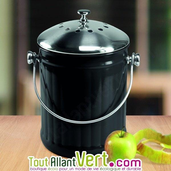 poubelle compost noir anti odeur pour cuisine 4 litres achat vente cologique acheter sur. Black Bedroom Furniture Sets. Home Design Ideas