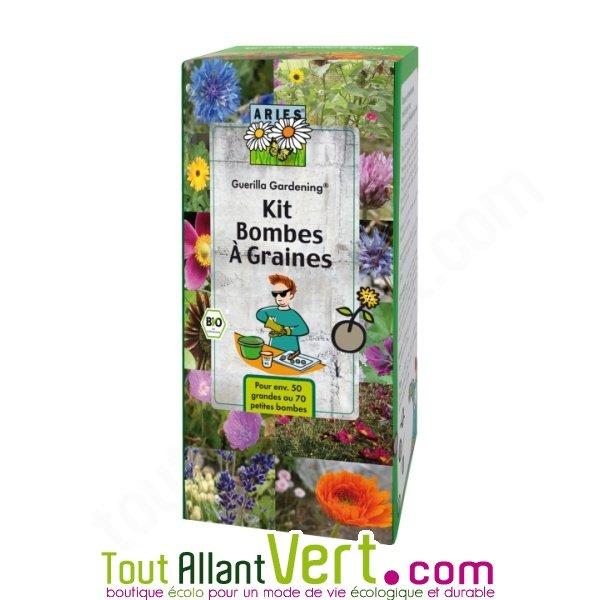 kit pour fabriquer des bombes graines de fleurs gu rilla gardening achat vente cologique. Black Bedroom Furniture Sets. Home Design Ideas