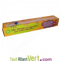 Film alimentaire tirable oxo d gradable avec boite d vidoir 100m achat vente cologique - Film etirable alimentaire cuisine ...