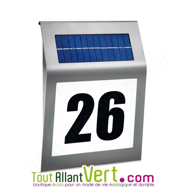 Plaque num ro de maison inox design et solaire style - Numero de maison design ...